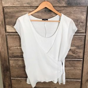 Light grey Gap blouse with zipper on side